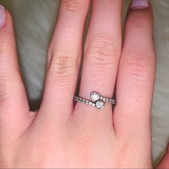 61660638a194c Forever hearts ring clear CZ pandora ring